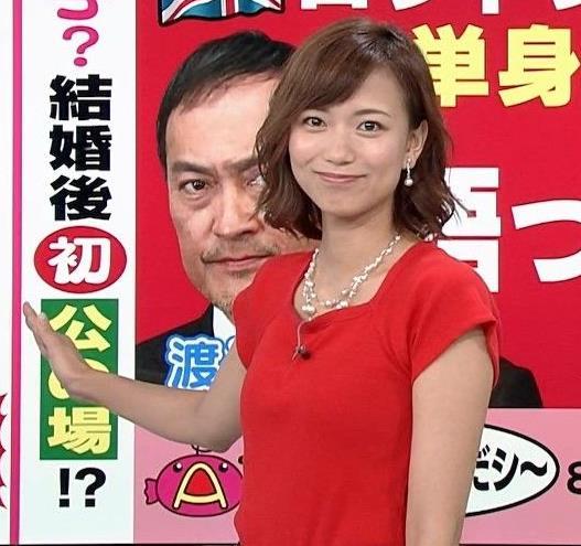 斎藤真美アナ タイトな服でエロいおっぱいキャプ・エロ画像12