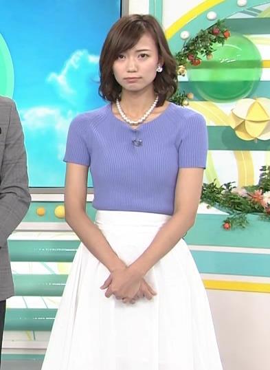 斎藤真美アナ ニット乳が大きくてエロいキャプ・エロ画像