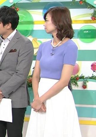 斎藤真美アナ ニット乳が大きくてエロいキャプ・エロ画像2