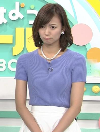 斎藤真美アナ ニット乳が大きくてエロいキャプ・エロ画像11