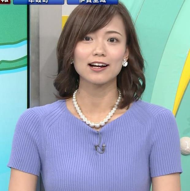 斎藤真美アナ ニット乳が大きくてエロいキャプ・エロ画像17