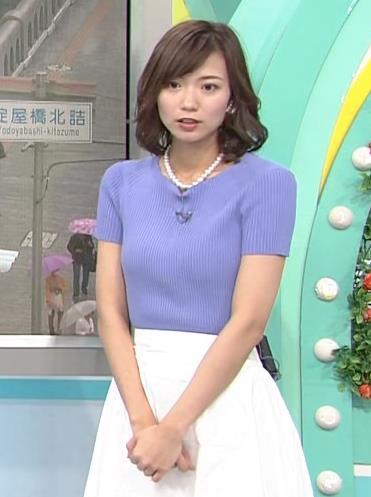 斎藤真美アナ ニット乳が大きくてエロいキャプ・エロ画像4