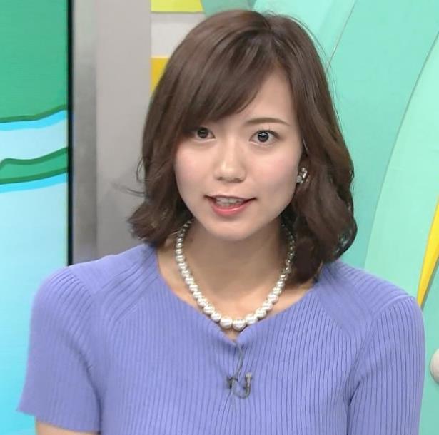 斎藤真美アナ ニット乳が大きくてエロいキャプ・エロ画像5