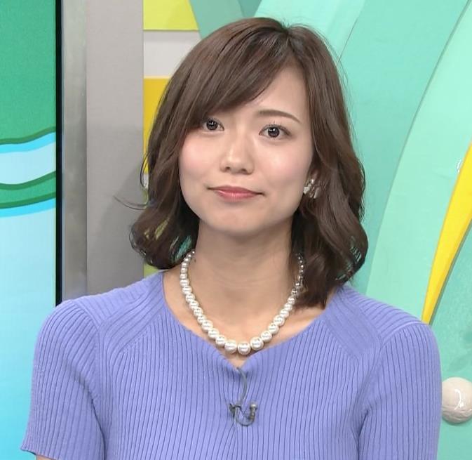 斎藤真美アナ ニット乳が大きくてエロいキャプ・エロ画像6