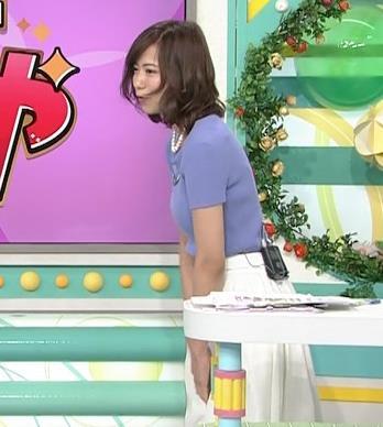斎藤真美アナ ニット乳が大きくてエロいキャプ・エロ画像8