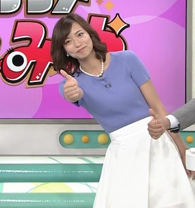 斎藤真美アナ ニット乳が大きくてエロいキャプ・エロ画像9