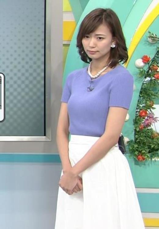 斎藤真美 ニット乳が大きくてエロいキャプ画像(エロ・アイコラ画像)