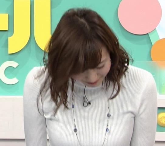 斎藤真美アナ ニット乳キャプ・エロ画像4
