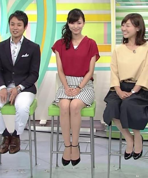 斎藤真美アナ ミニスカで座って▼ゾーンが見えそうキャプ画像(エロ・アイコラ画像)