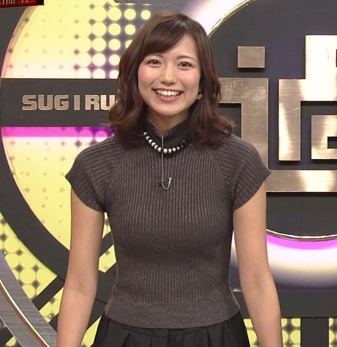 斎藤真美アナ エロかわいいピチピチのニットおっぱいキャプ・エロ画像