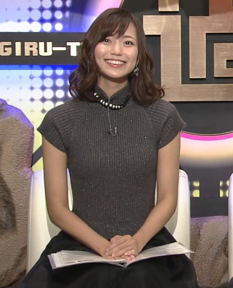 斎藤真美アナ エロかわいいピチピチのニットおっぱいキャプ・エロ画像11
