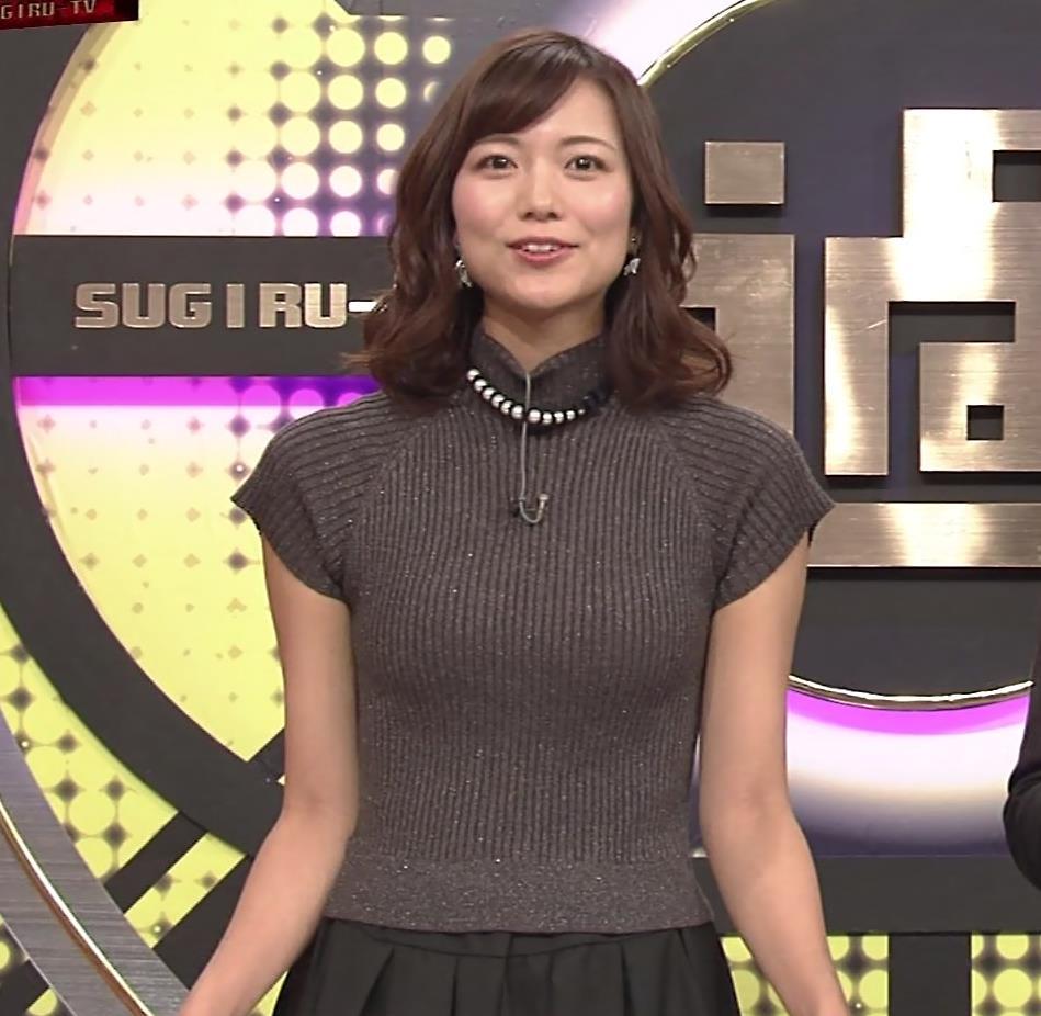斎藤真美アナ エロかわいいピチピチのニットおっぱいキャプ・エロ画像3