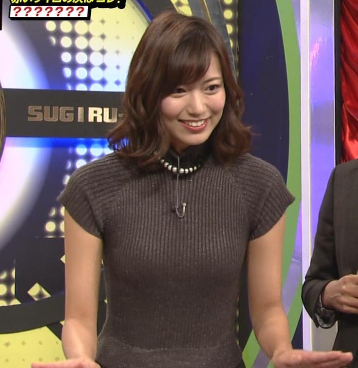 斎藤真美アナ エロかわいいピチピチのニットおっぱいキャプ・エロ画像4