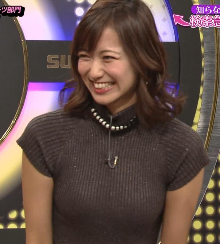 斎藤真美アナ エロかわいいピチピチのニットおっぱいキャプ・エロ画像7