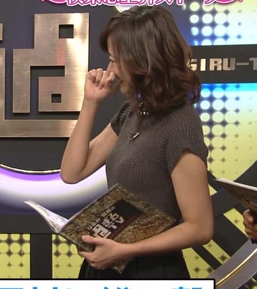 斎藤真美アナ エロかわいいピチピチのニットおっぱいキャプ・エロ画像8