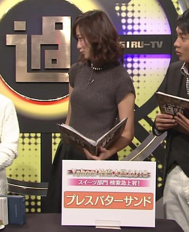 斎藤真美アナ エロかわいいピチピチのニットおっぱいキャプ・エロ画像9