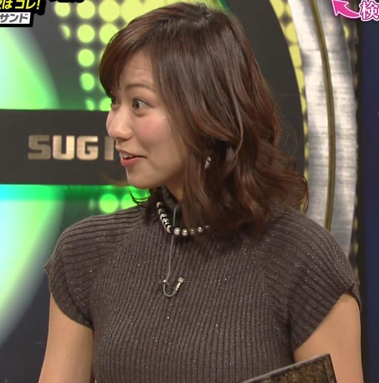 斎藤真美アナ エロかわいいピチピチのニットおっぱいキャプ・エロ画像10