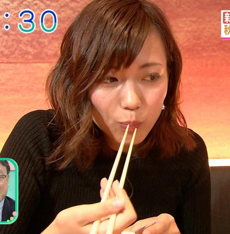 斎藤真美アナ 突き出したおっぱいがエロいニットキャプ・エロ画像11