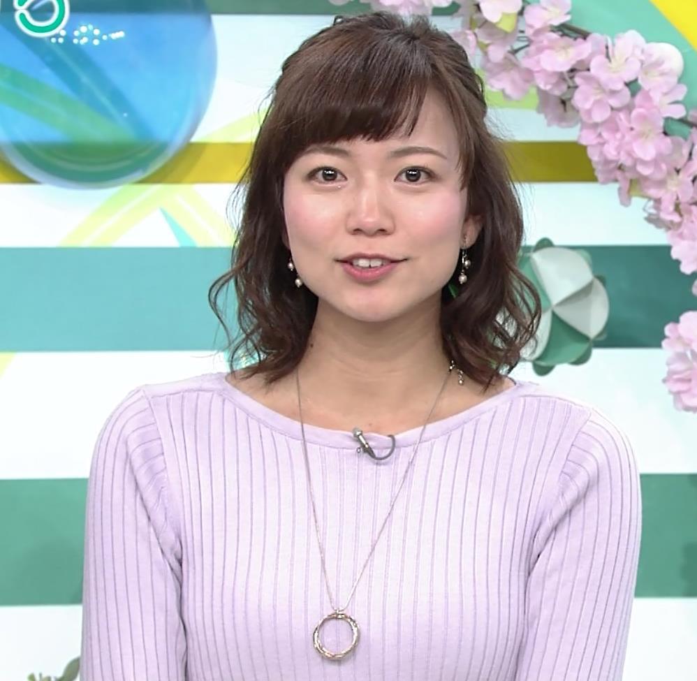 斎藤真美アナ ニット横乳がエロいキャプ・エロ画像2