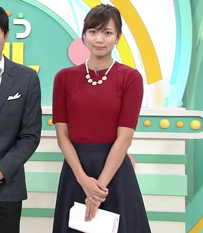 斎藤真美アナ ピチピチなニットおっぱいキャプ・エロ画像