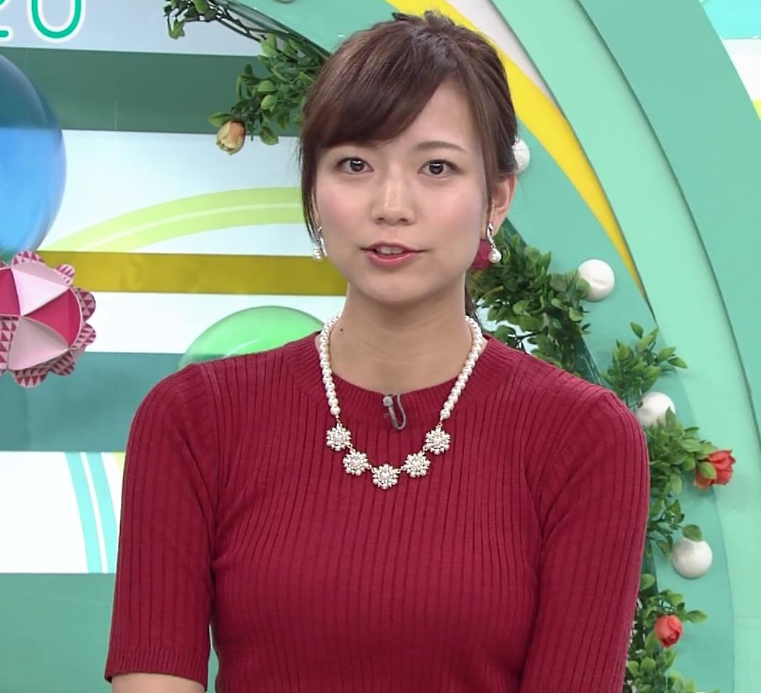 斎藤真美アナ ピチピチなニットおっぱいキャプ・エロ画像5