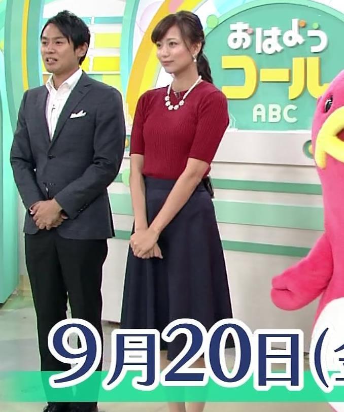 斎藤真美アナ ピチピチなニットおっぱいキャプ・エロ画像7