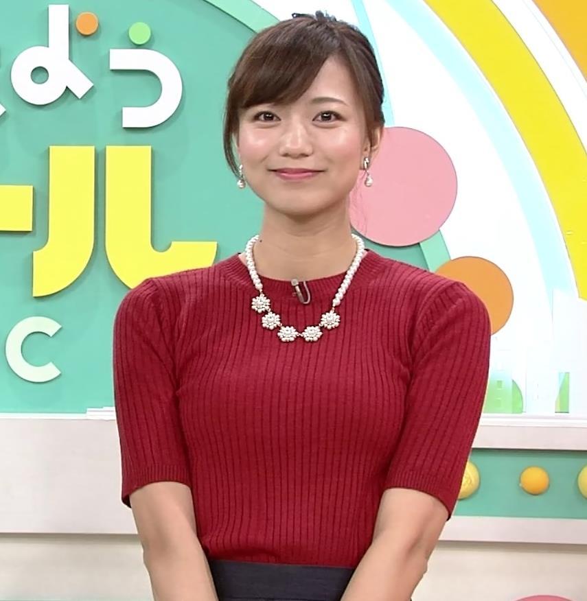 斎藤真美アナ ピチピチなニットおっぱいキャプ・エロ画像8