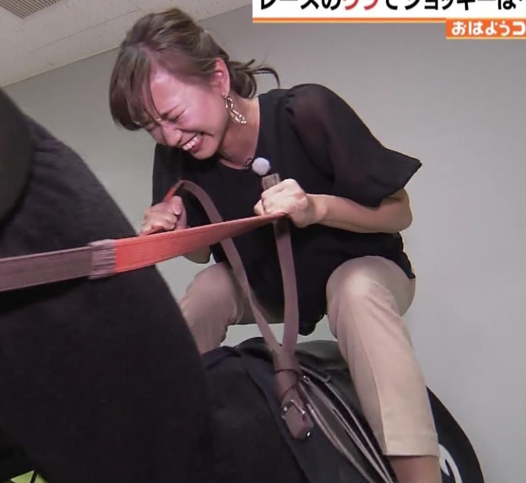斎藤真美アナ 騎乗でお尻を思いっきり突き出す!キャプ・エロ画像6