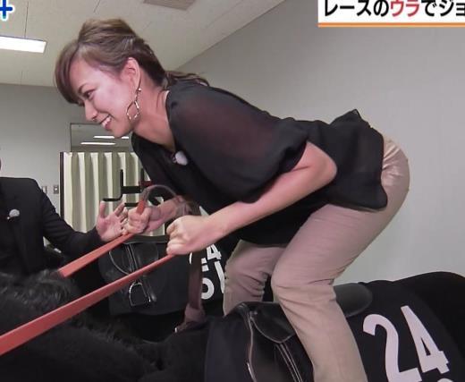 斎藤真美アナ 騎乗でお尻を思いっきり突き出す!キャプ画像(エロ・アイコラ画像)