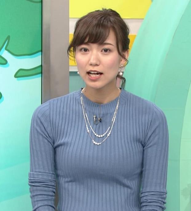 斎藤真美アナ ニット巨乳キャプ画像13