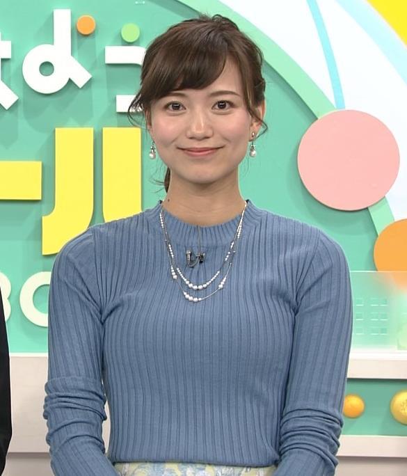 斎藤真美アナ ニット巨乳キャプ画像4