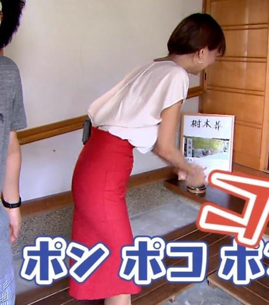 斎藤真美アナ タイトスカートでエロいお尻がクッキリキャプ・エロ画像11