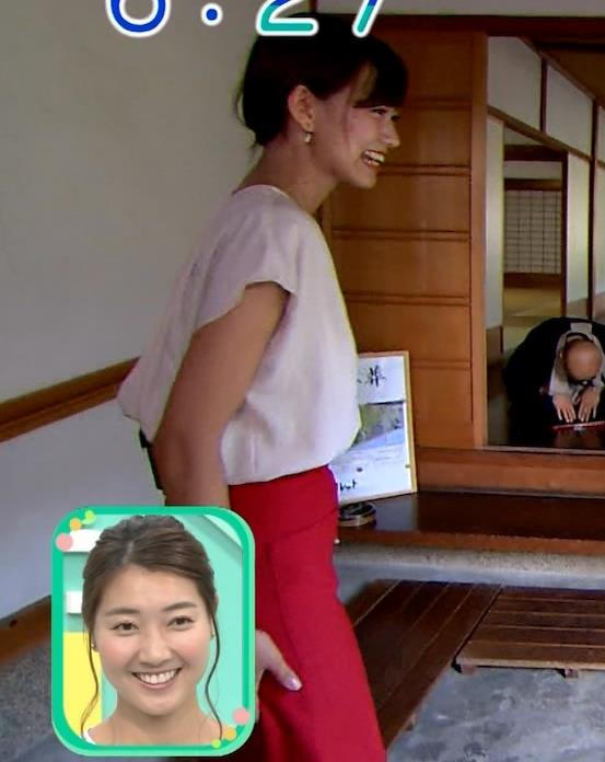 斎藤真美アナ タイトスカートでエロいお尻がクッキリキャプ・エロ画像8