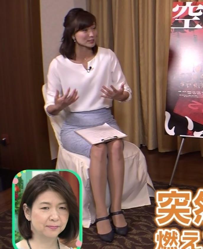 斎藤真美アナ タイトスカートで座っているのがエロいキャプ・エロ画像