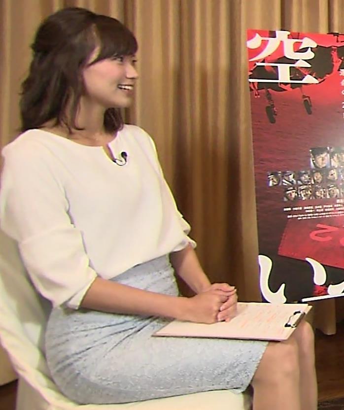 斎藤真美アナ タイトスカートで座っているのがエロいキャプ・エロ画像2