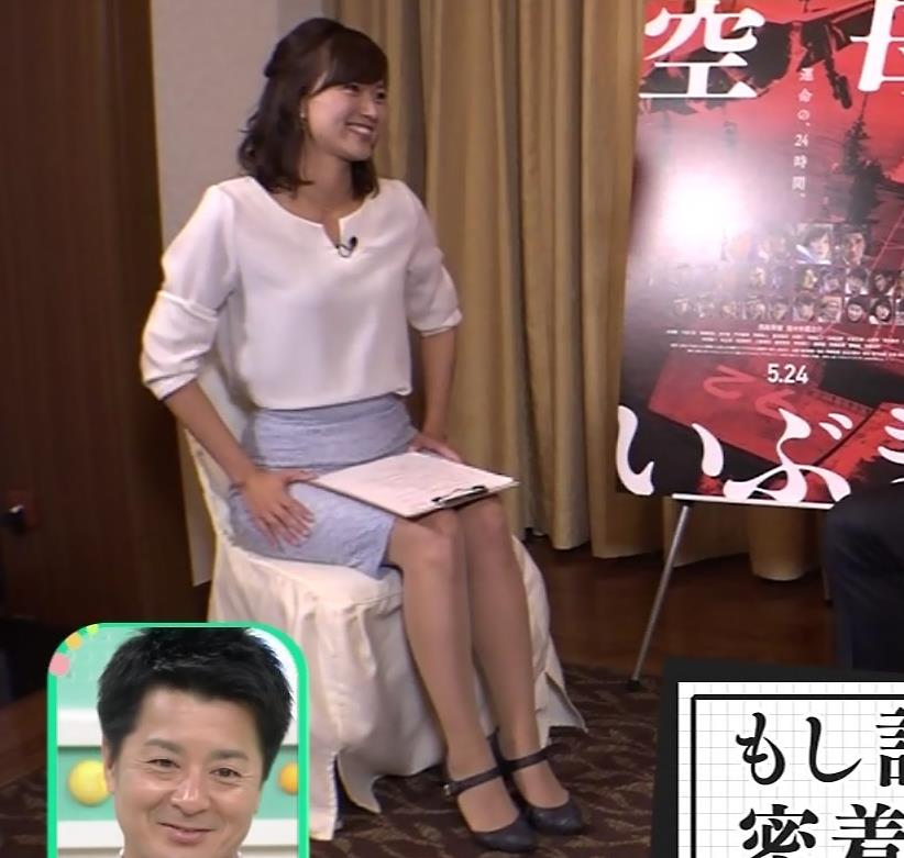 斎藤真美アナ タイトスカートで座っているのがエロいキャプ・エロ画像5