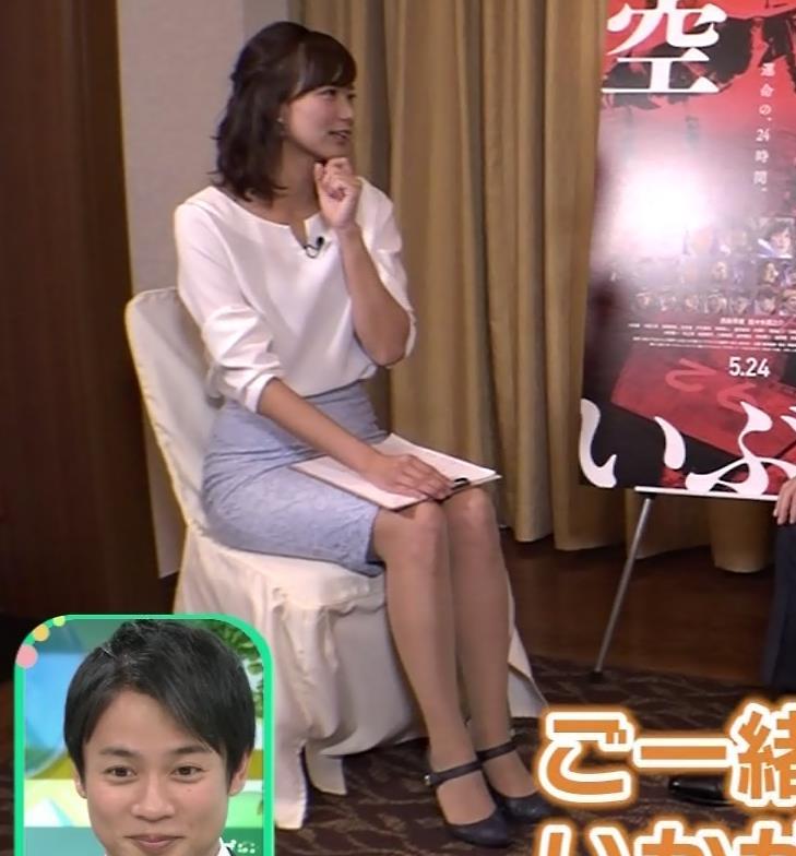 斎藤真美アナ タイトスカートで座っているのがエロいキャプ・エロ画像6