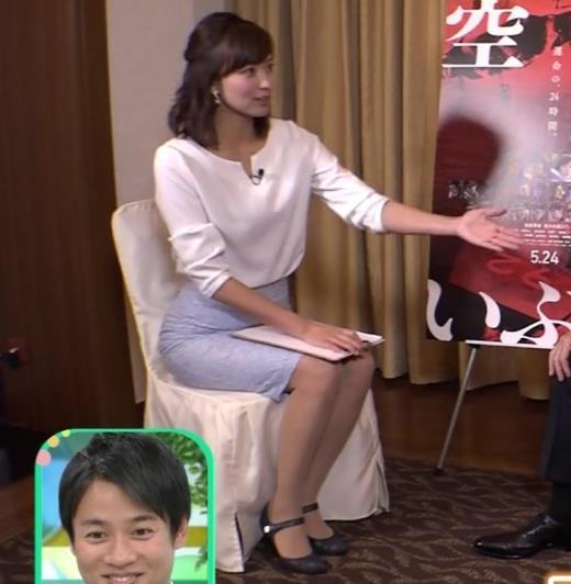 斎藤真美アナ タイトスカートで座っているのがエロいキャプ画像(エロ・アイコラ画像)