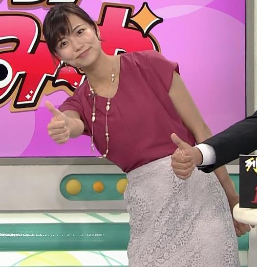 斎藤真美アナ 花柄のスカートキャプ・エロ画像9