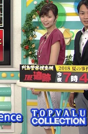 斎藤真美アナ 花柄のスカートキャプ・エロ画像10