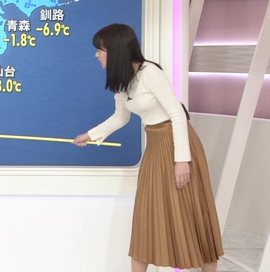 榊菜美 ピチピチのニットおっぱい♡美人気象予報士キャプ・エロ画像11