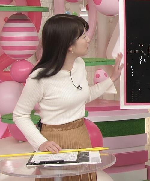 榊菜美 ピチピチのニットおっぱい♡美人気象予報士キャプ・エロ画像4