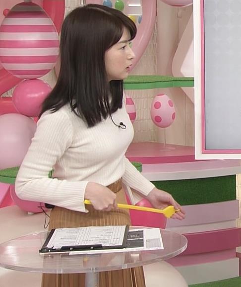榊菜美 ピチピチのニットおっぱい♡美人気象予報士キャプ・エロ画像6