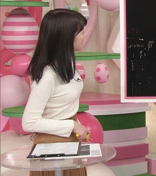 榊菜美 ピチピチのニットおっぱい♡美人気象予報士キャプ画像(エロ・アイコラ画像)