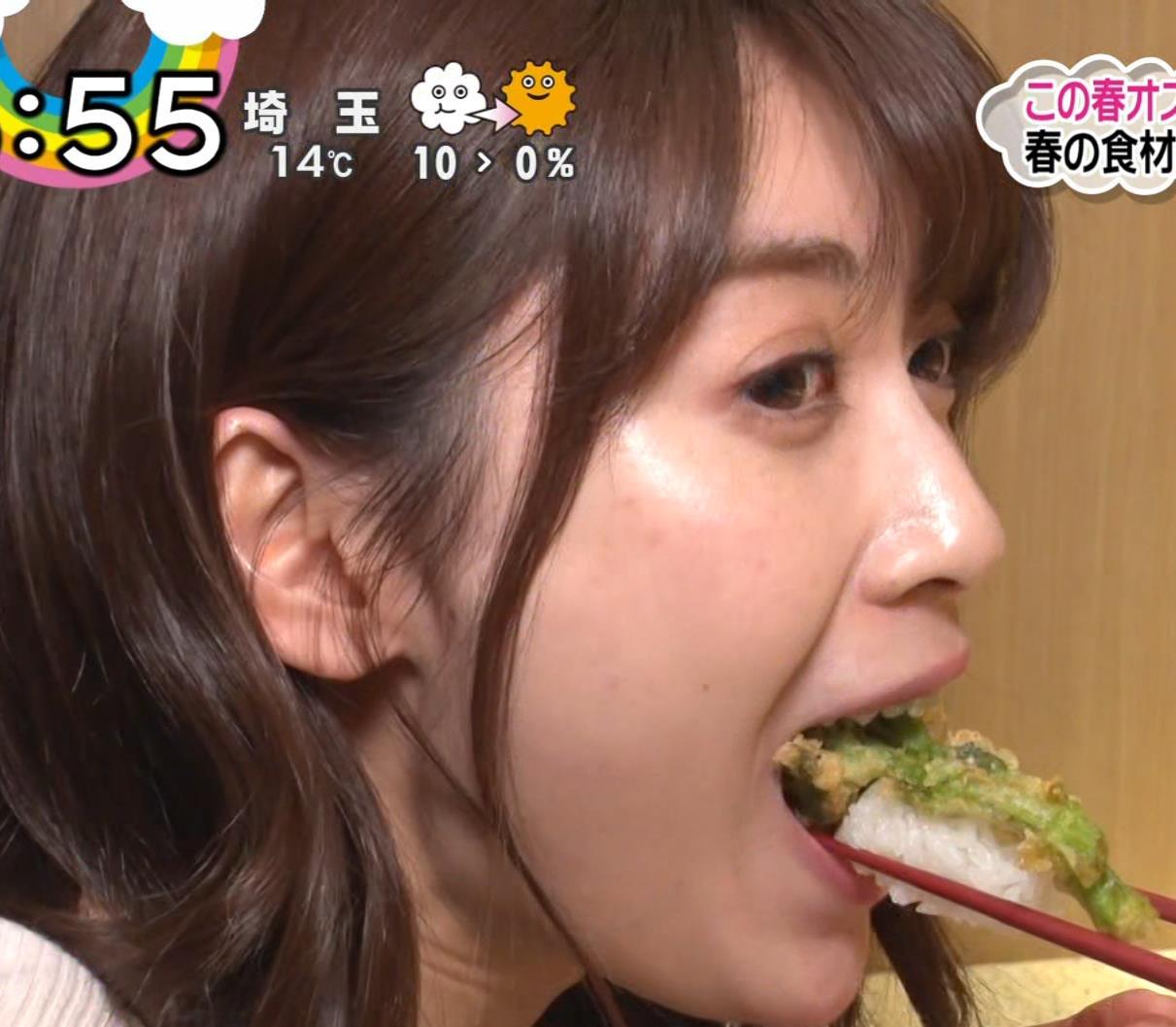 榊原美紅 モデルのニット乳と疑似フェラキャプ・エロ画像8