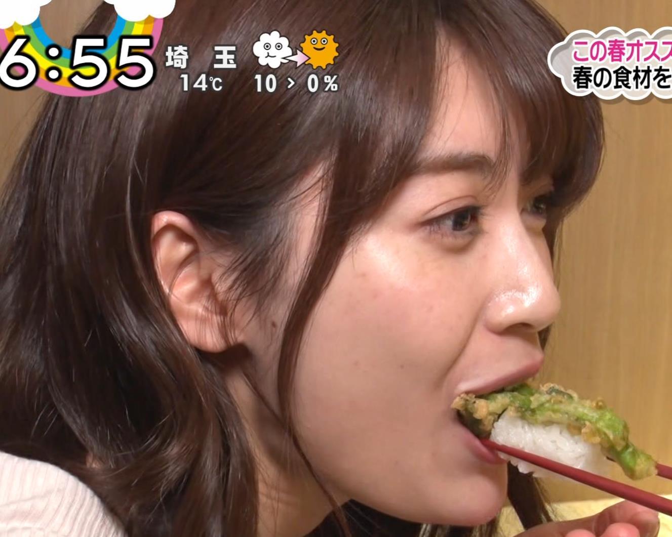 榊原美紅 モデルのニット乳と疑似フェラキャプ・エロ画像9