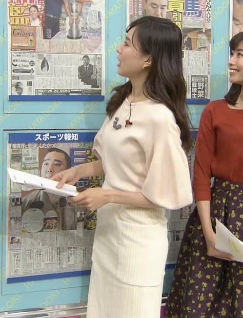 笹川友里アナ タイトなロングスカートもエロいキャプ・エロ画像
