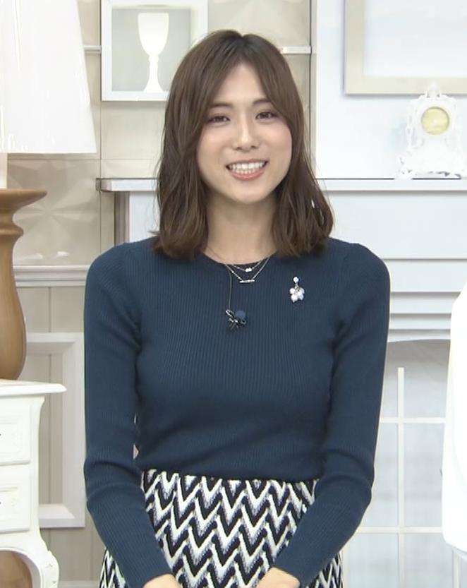 笹川友里アナ いつもタイトめなニット着てる気がするキャプ・エロ画像