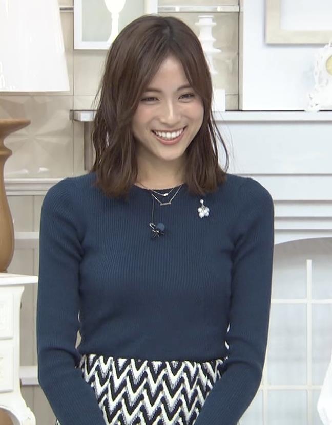 笹川友里アナ いつもタイトめなニット着てる気がするキャプ・エロ画像4