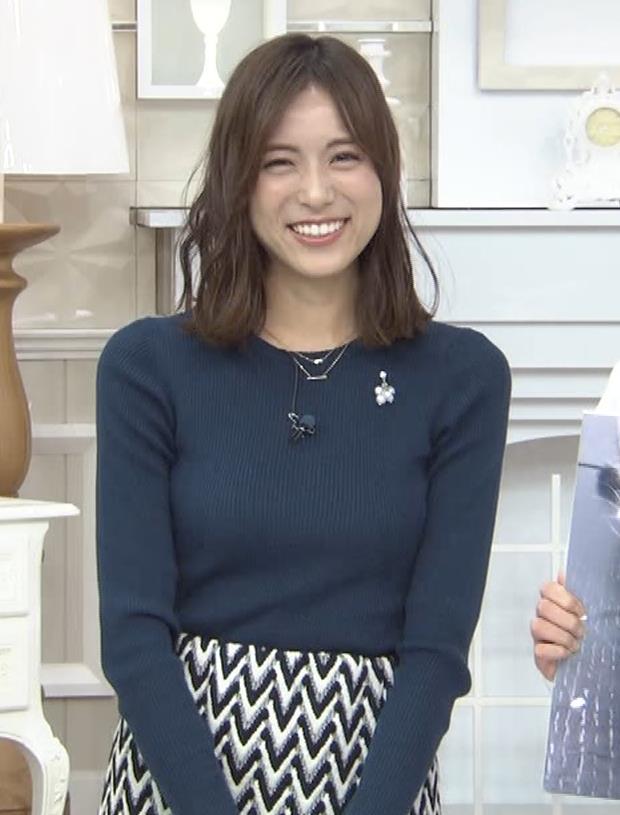 笹川友里アナ いつもタイトめなニット着てる気がするキャプ・エロ画像7